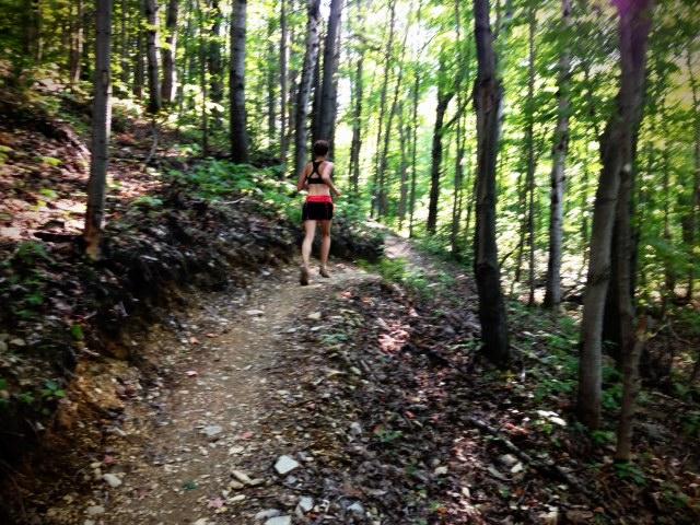 Carole entrainement trails vélo montagne été 2013