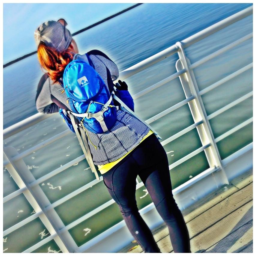 Carole Marathon Rimouski 2013 - regarde rivière