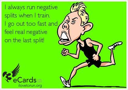 Affiche marathon - negative splits
