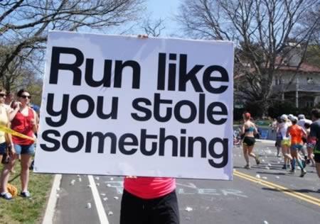 Affiche marathon - Run like you stole something
