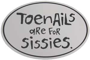 Affiche marathon - Toenails are for sissies