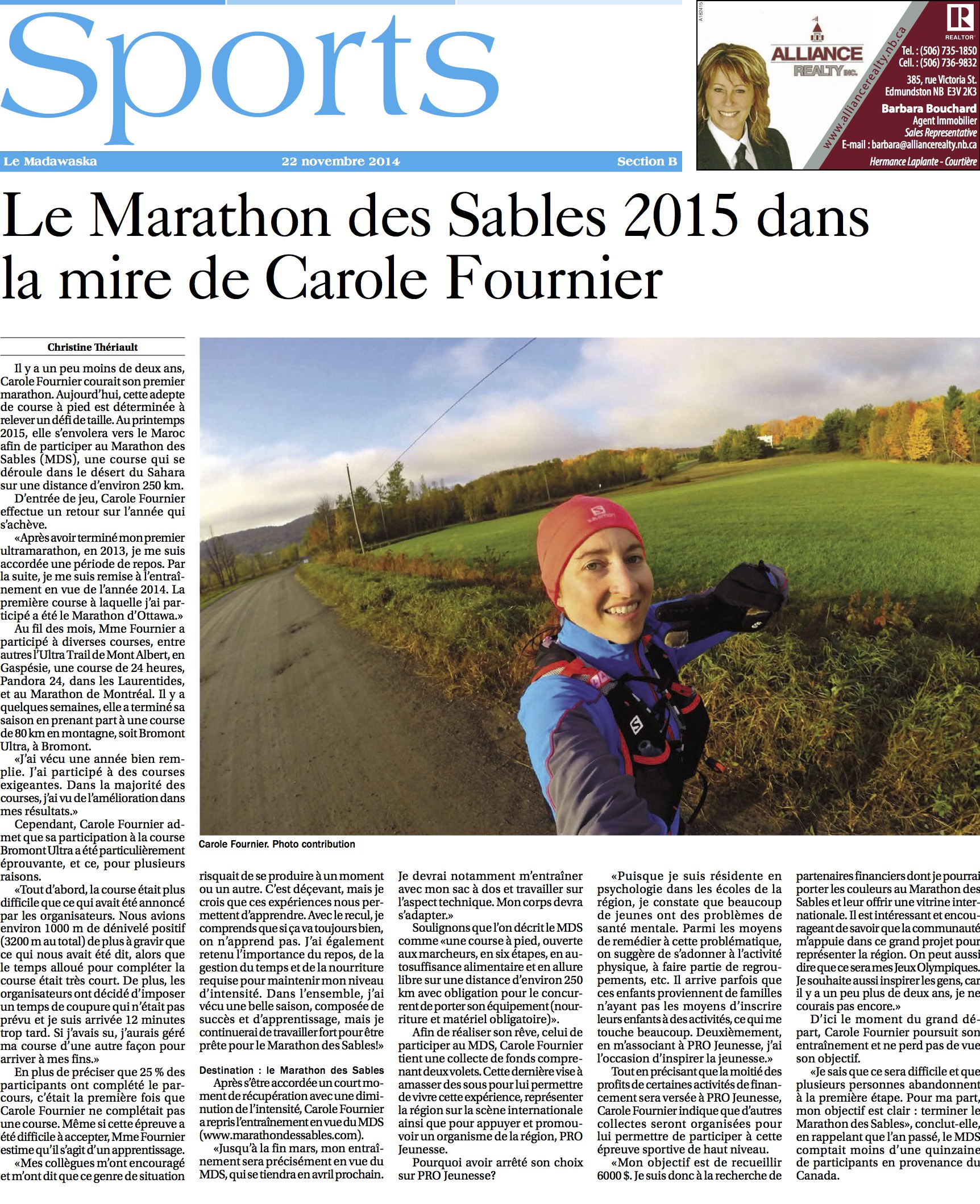 Journal Le Madawaska - 22 novembre 2014