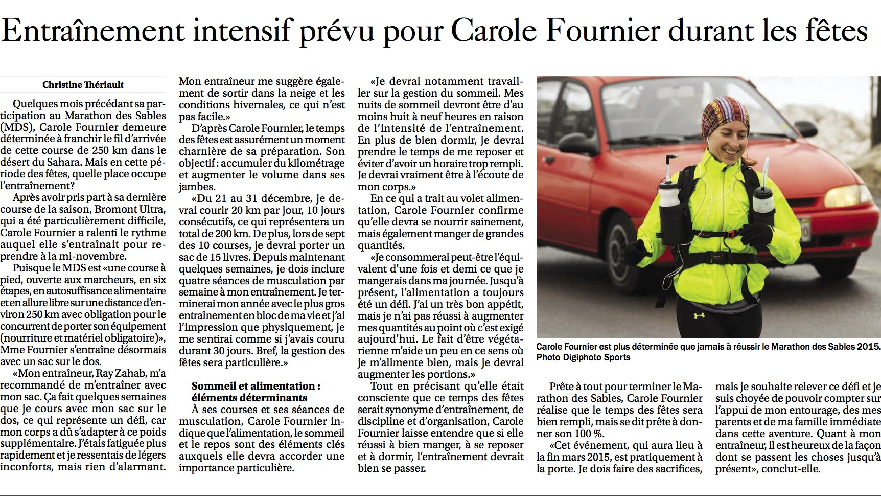 Article - Carole Fournier - 03-01-2015